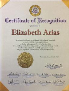 foto del Certificado de Reconocimiento