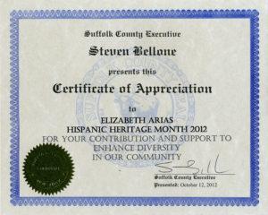 Foto de certificado