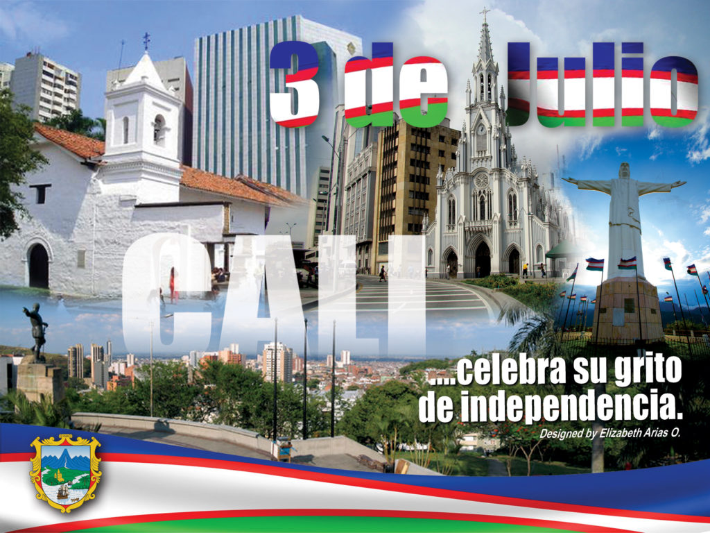 foto del diseño de la independencia de Cali