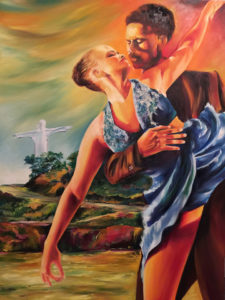 foto del Oleo Bailarines y Cristo Rey - Homenaje a Cali