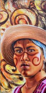 Foto del óleo Mestiza Wayúu