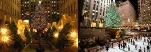 Dos fotos del Rockefeller Center