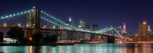 Foto Nocturna del Brooklyn Bridge