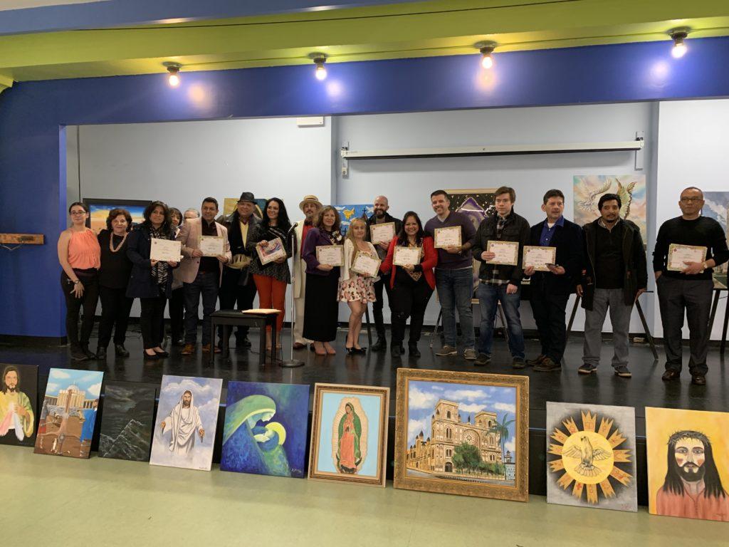foto Grupo de artistas galardonados