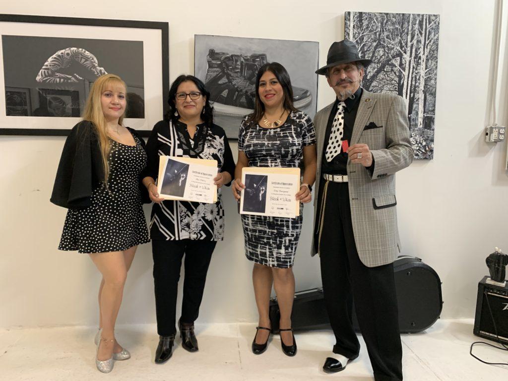 foto Izq Linda Riveros,Rar Chávez, Letty Tonsignant y Amado Mora