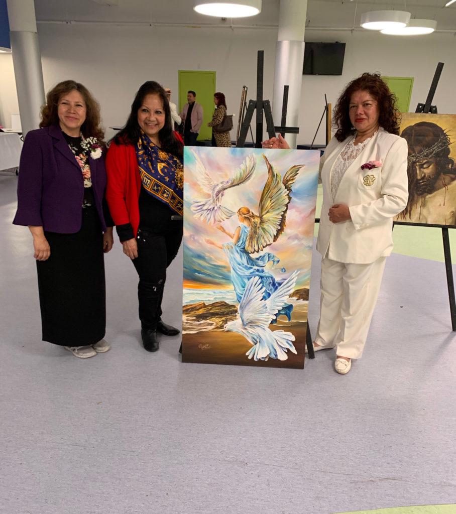 foto Con las Directivas de Latin American Institute, a mi derecha la Dra Sara de Bernal - Directora Ejecutiva