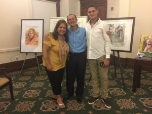 foto Con Reynaldo Pardo pintor colombiano y su hijo