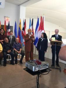 foto Amado Agradeciendo todo el apoyo del Comité y el Museo