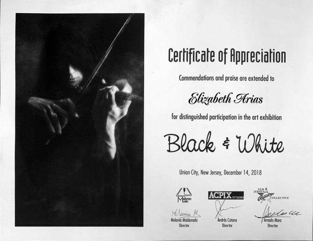 foto Certificate of Appreciation Exhibition Black & White