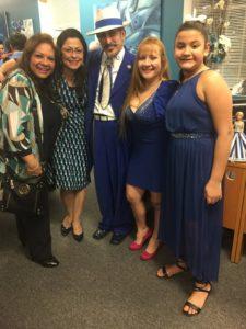 foto Elizabeth Arias Ojeda, Olfary Gutiérrez, Amado Mora, Linda Riveros y Michelle Galvis