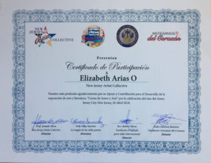 foto del Certificado de Participación Cartas de Amor