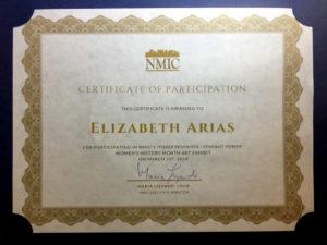 foto del certificado