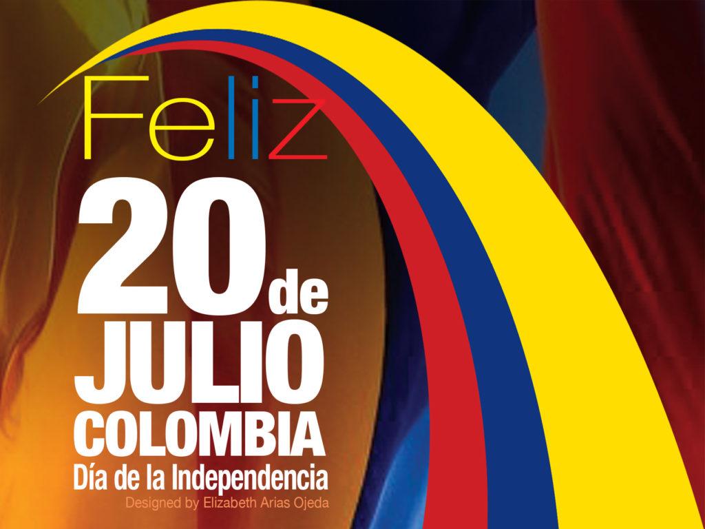 foto del deseño 20 de Julio, feliz 20 de julio día de la indepedencia