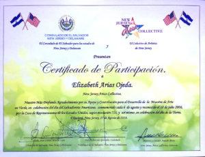 foto del Certificado de Participación
