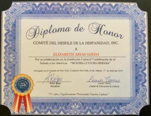 foto Diploma de Honor por el Brochure