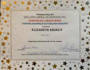 foto del Diploma de Participación Celebrando el Día Internacional de los Niños