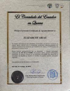 foto del Certificado del Ecuador 5-4-2019