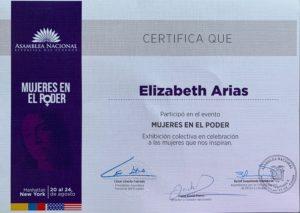 foto Certificado de participación MUJERES EN EL PODER