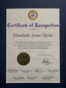 Photo of Certificate of Recognition