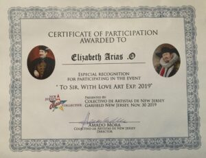 Certificate of Participation To Sir - With Love Arte