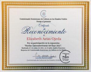 Reconocimiento del Comisionado Dominicano 6-3-2021